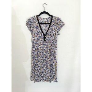 Zara Basic Spring Summer Floral V-neck Dress